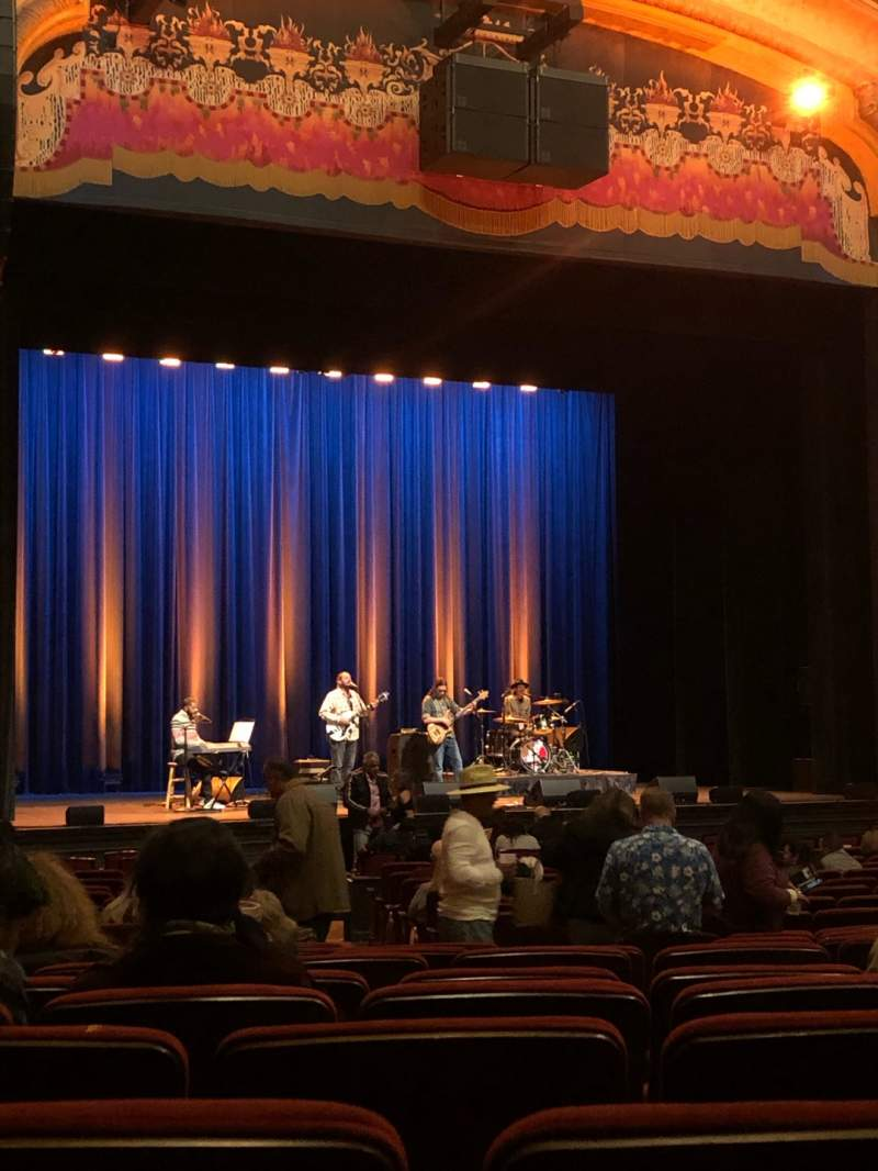 Seating view for Balboa Theatre Section Orchestra Row V Seat 13