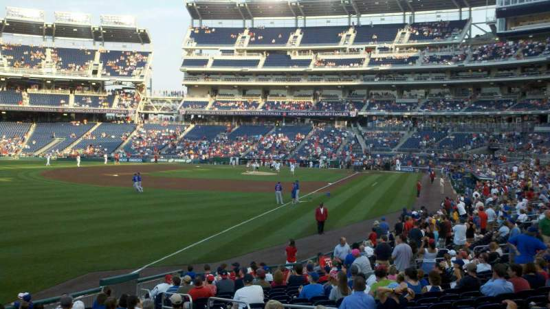 Seating view for Nationals Park Section 108 Row Z Seat 7