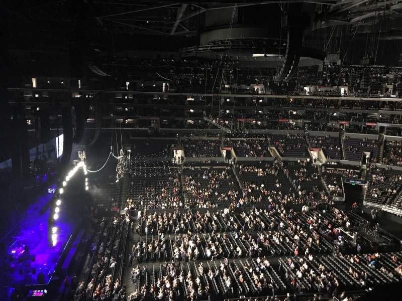 Staples Center, section: 309, row: 1, seat: 6