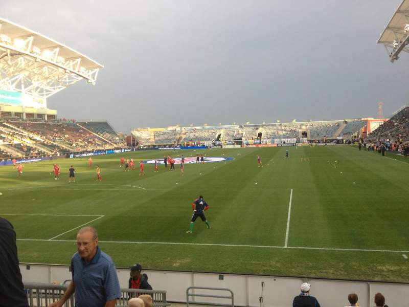 Seating view for Talen Energy Stadium Section 115 Row J Seat 12