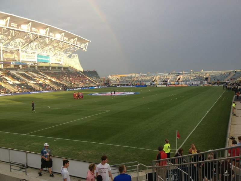Seating view for Talen Energy Stadium Section 115 Row K Seat 6