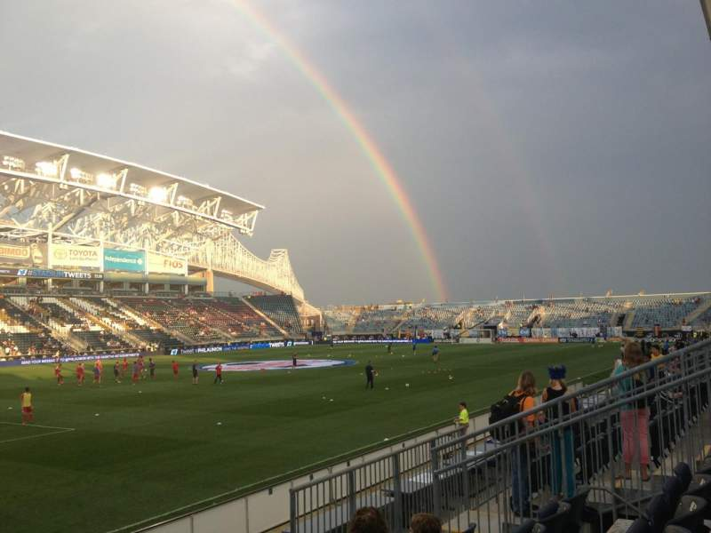 Seating view for Talen Energy Stadium Section 112 Row H Seat 11