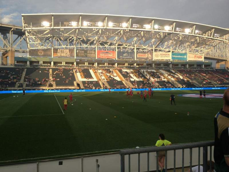 Seating view for Talen Energy Stadium Section 111 Row F Seat 2