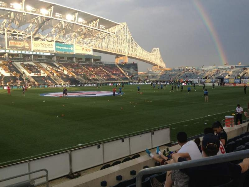 Seating view for Talen Energy Stadium Section 110 Row F Seat 2