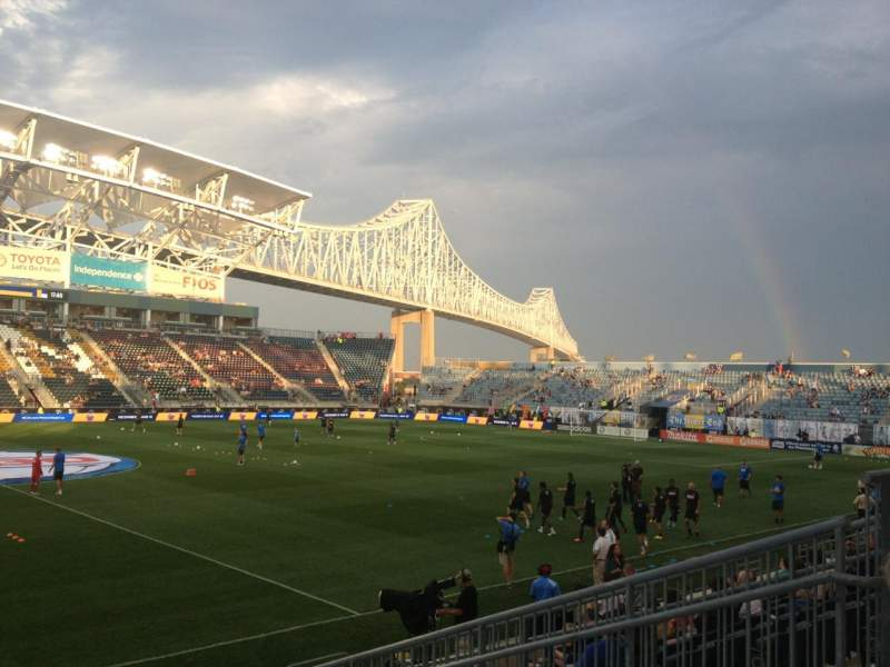 Seating view for Talen Energy Stadium Section 108 Row K Seat 8