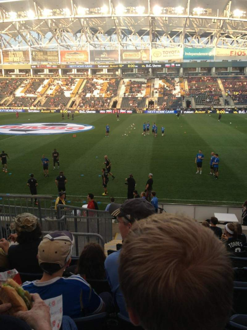 Seating view for Subaru Park Section 104 Row P Seat 15
