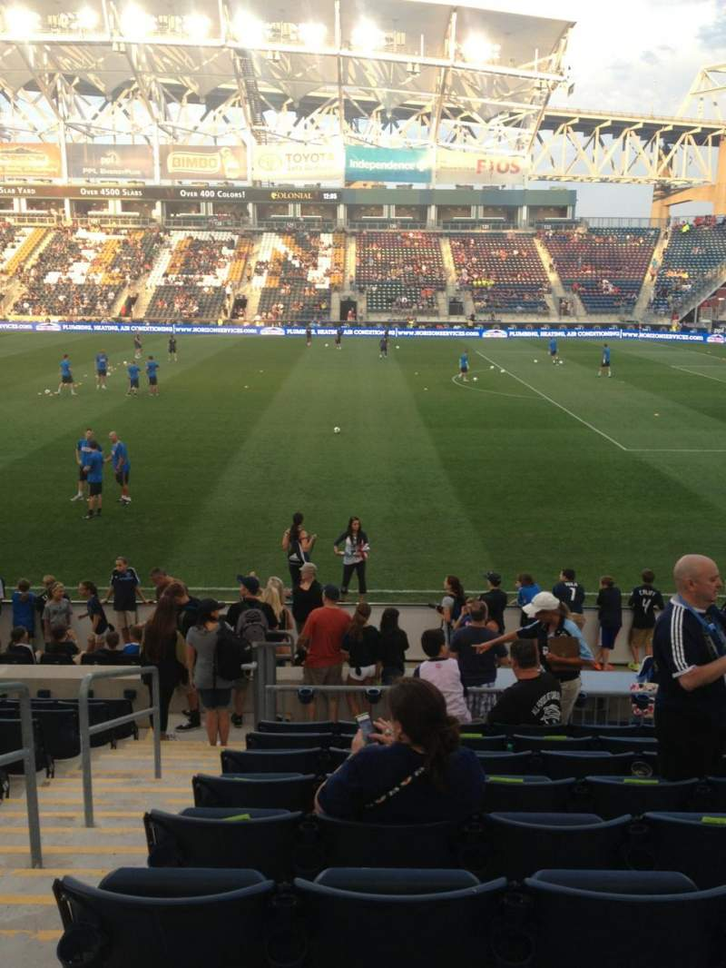 Seating view for Subaru Park Section 104 Row M Seat 15