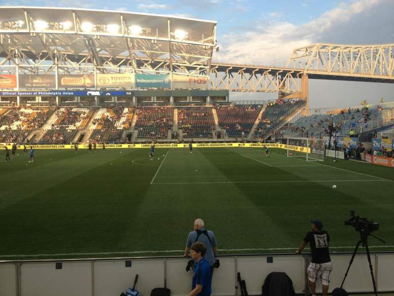 Seating view for Talen Energy Stadium Section 103 Row F Seat 16