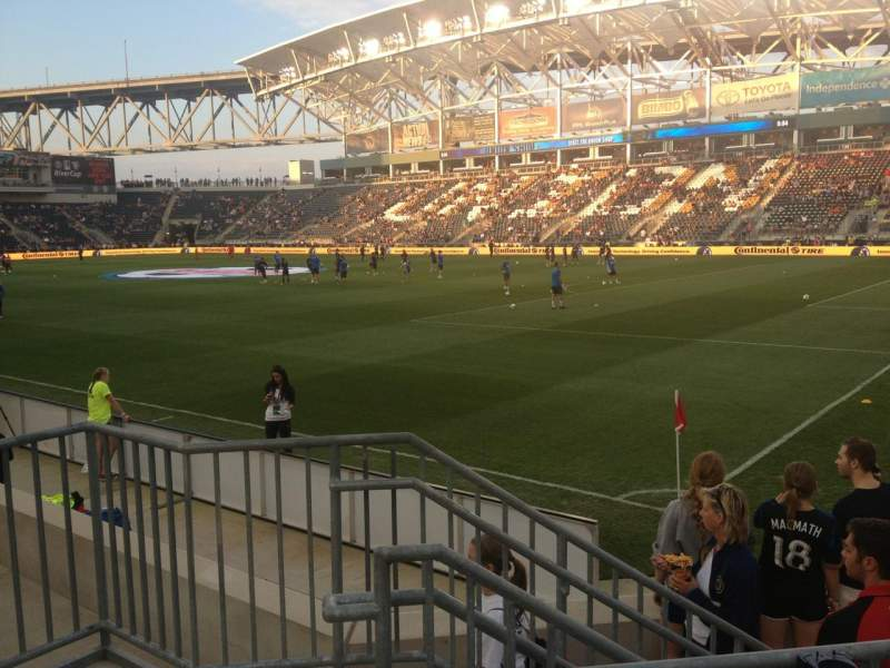 Seating view for Talen Energy Stadium Section 101 Row F Seat 6