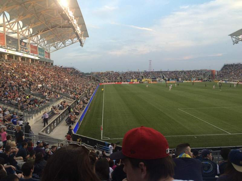 Seating view for Talen Energy Stadium Section 120 Row R Seat 11