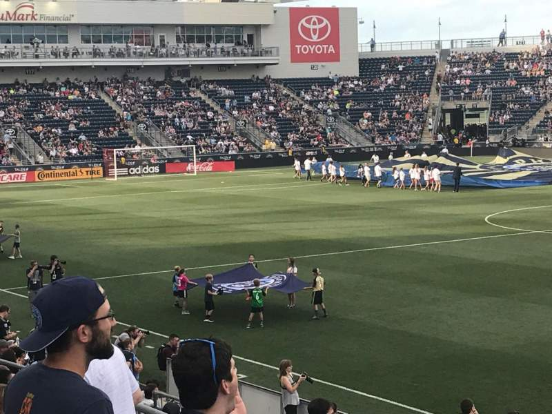 Seating view for Talen Energy Stadium Section 103 Row N Seat 12