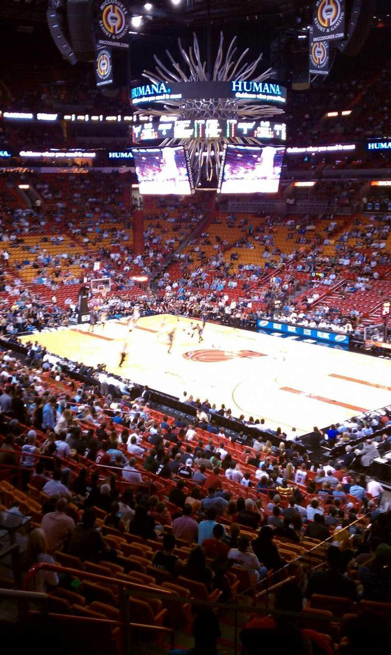 Seating view for American Airlines Arena Section 115 Row 33 Seat 14