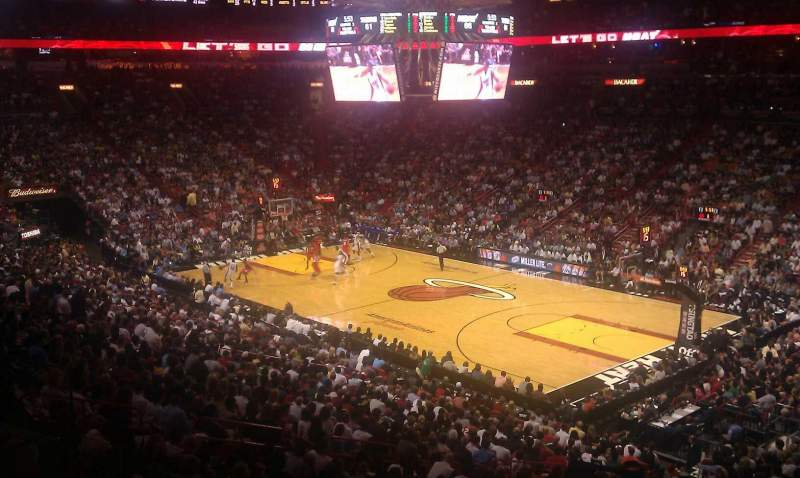 Seating view for American Airlines Arena Section 115 Row 34 Seat 21