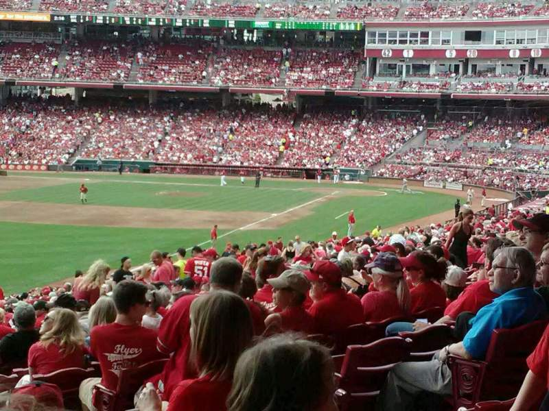 Seating view for Great American Ball Park Section 108 Row oo Seat 1
