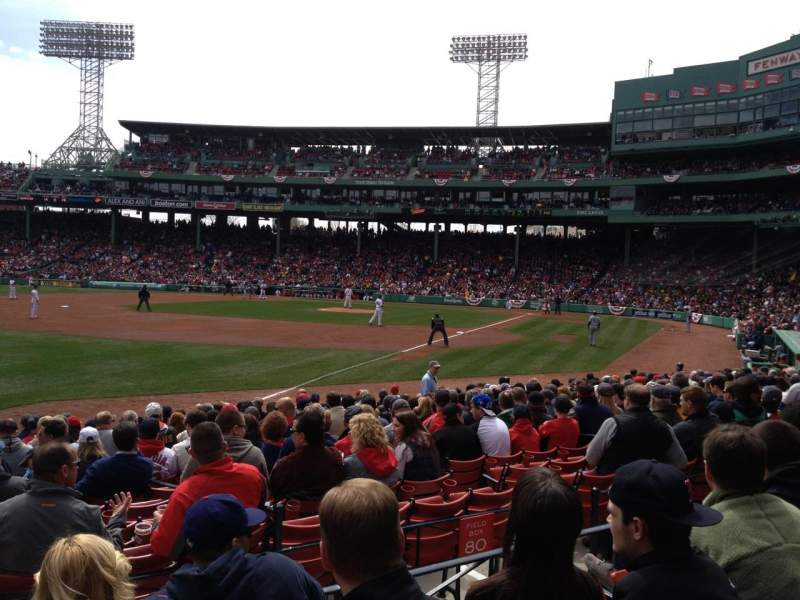 Seating view for Fenway Park Section Loge Box 162 Row EE Seat 1