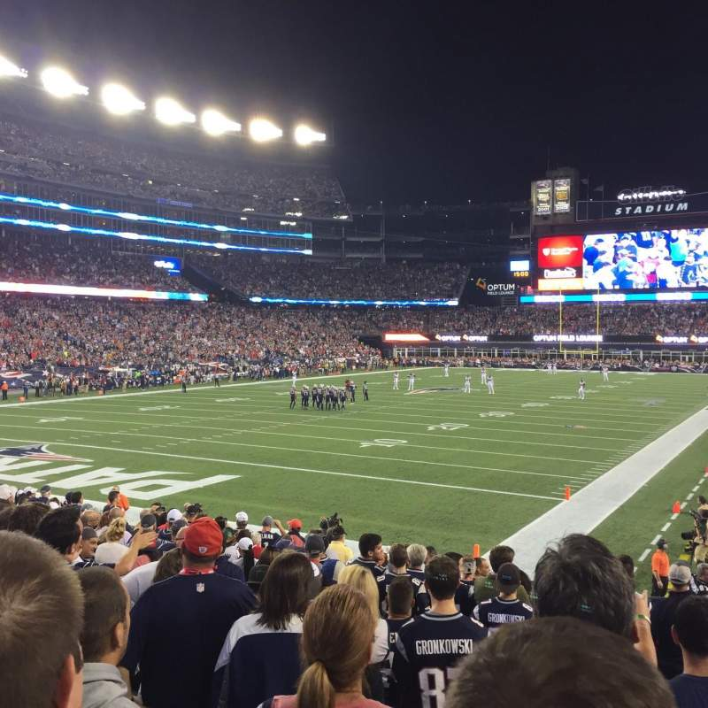 Seating view for Gillette Stadium Section 140 Row 15 Seat 3