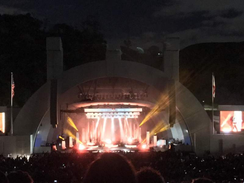 Hollywood Bowl, section: H, row: 13, seat: 110