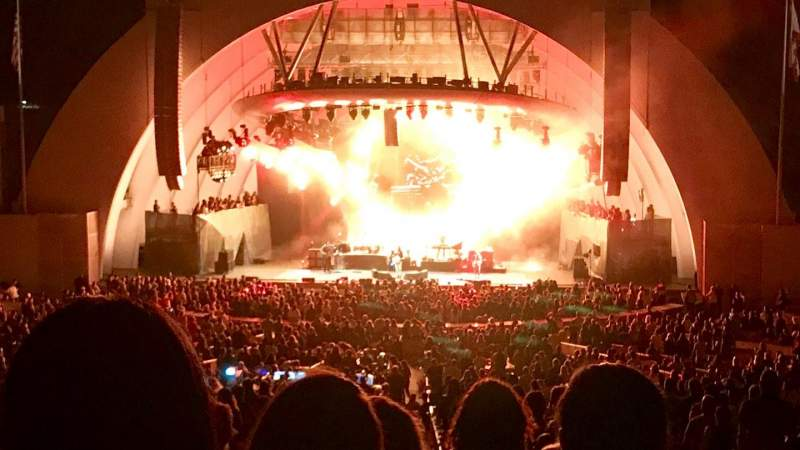 Hollywood Bowl, section: G1, row: 11, seat: 17
