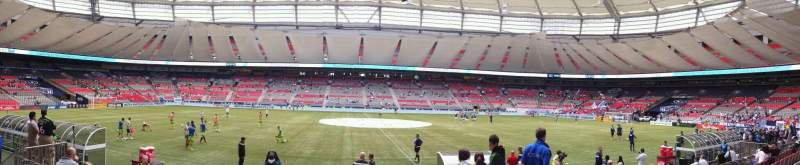 Seating view for BC Place Section 214 Row E Seat 104
