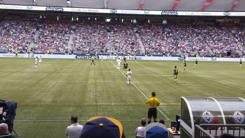 BC Place, section: 214, row: E, seat: 104