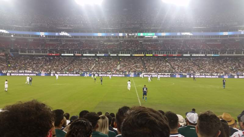 Seating view for Nissan Stadium Section 135 Row H Seat 15