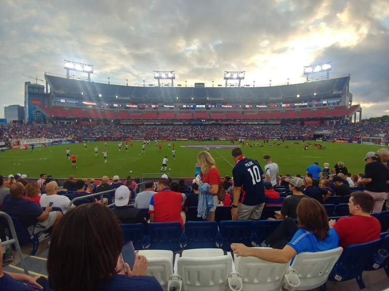 Seating view for Nissan Stadium Section 112 Row J Seat 21