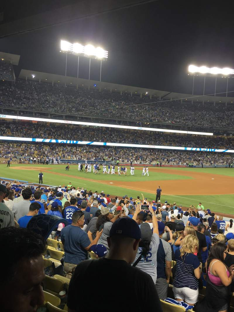 Dodger Stadium, section: 34FD, row: U, seat: 4
