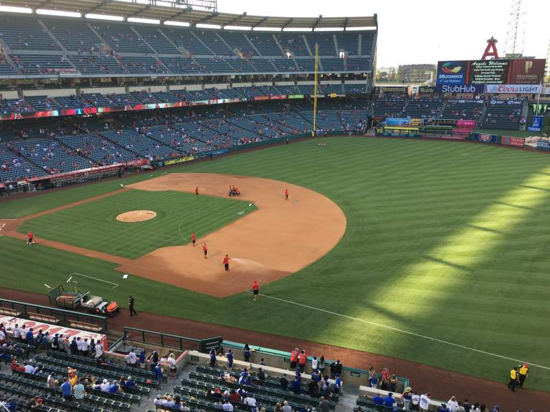 Seating view for Angel Stadium Section V428 Row B Seat 1