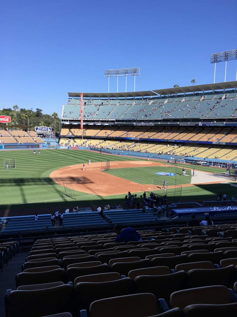 Seating view for Dodger Stadium Section 143LG Row N Seat 8