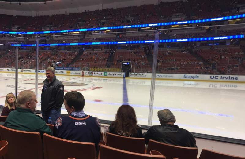 Seating view for Honda Center Section 221 Row D Seat 10