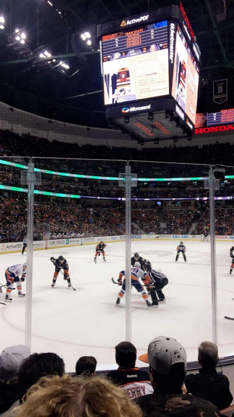 Seating view for Honda Center Section 227 Row E Seat 4