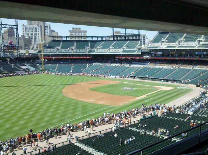 Seating view for Comerica Park Section Suite 245