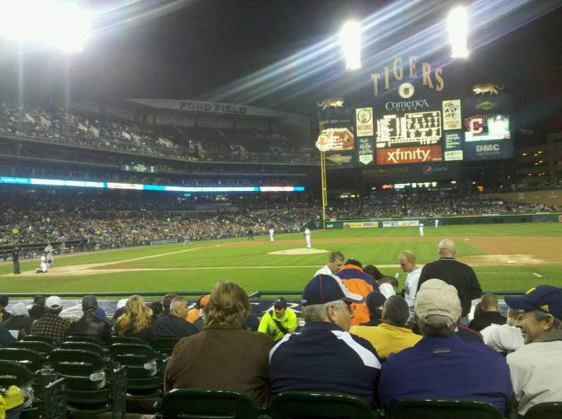 Seating view for Comerica Park Section 121 Row 17 Seat 14
