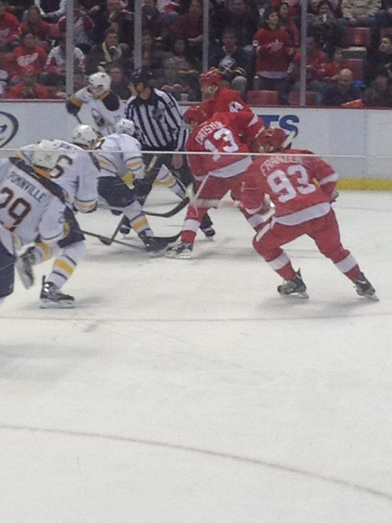 Seating view for Joe Louis Arena Section 123 Row 6 Seat 14
