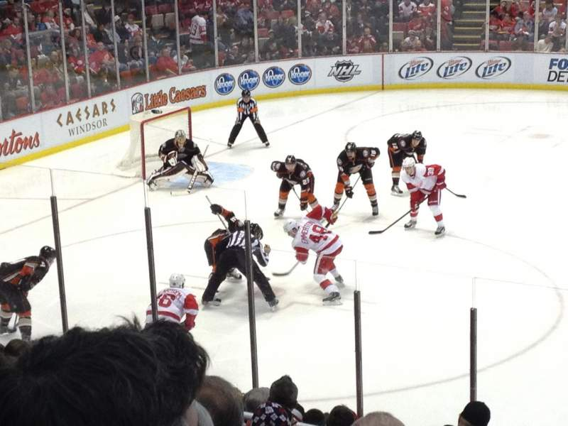 Seating view for Joe Louis Arena Section 123 Row 16 Seat 2
