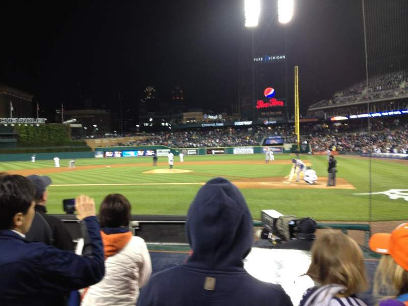 Seating view for Comerica Park Section 130 Row 7 Seat 14