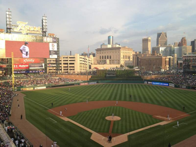 Seating view for Comerica Park Section 327 Row 1 Seat 10