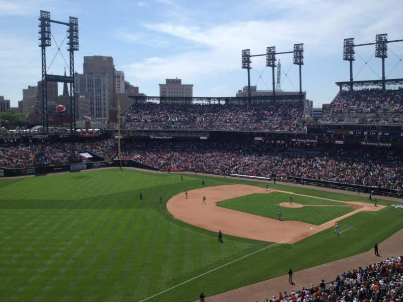 Seating view for Comerica Park Section 340 Row A Seat 20