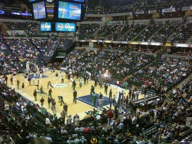 Seating view for Bankers Life Fieldhouse Section 113 Row 3 Seat 1
