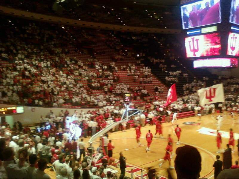 Seating view for Assembly Hall (Bloomington) Section F Row 9