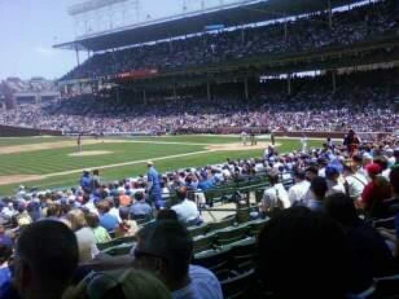 Seating view for Wrigley Field Section 110 Row 9