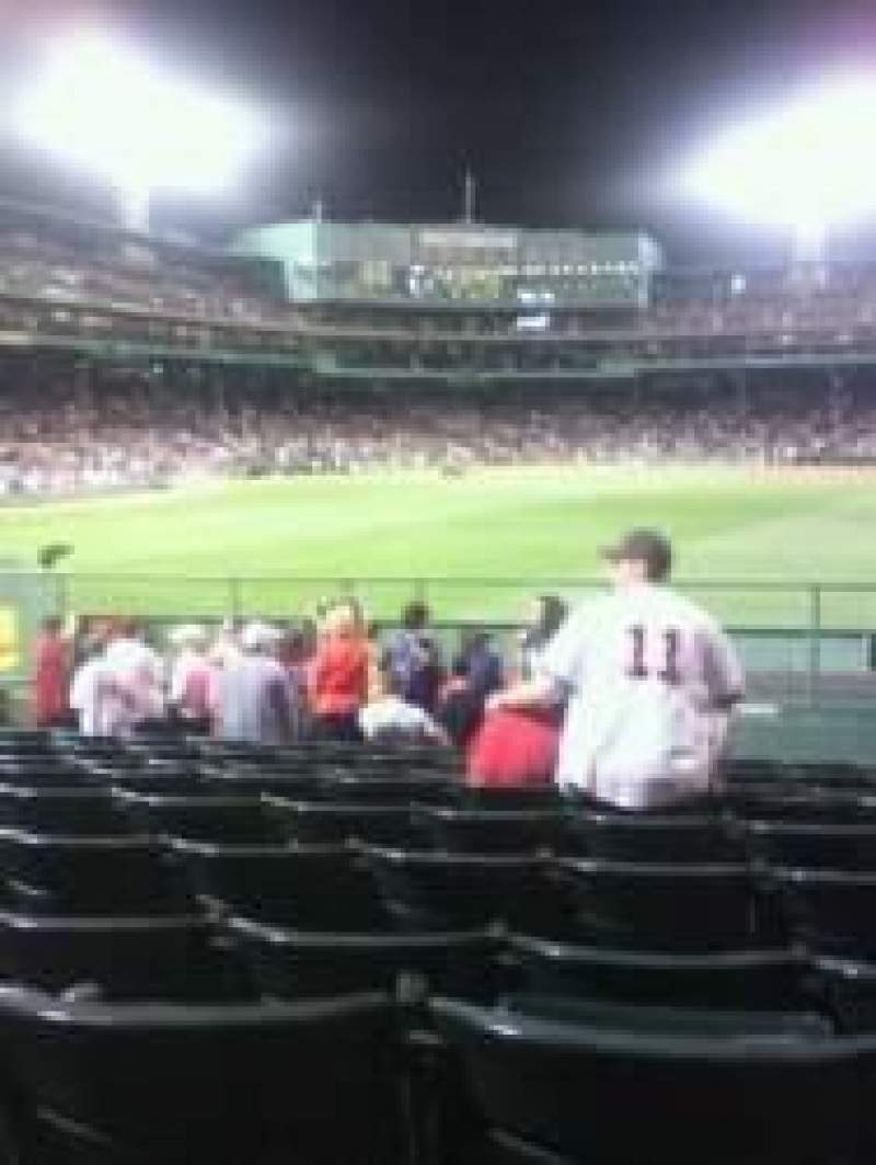 Seating view for Fenway Park Section Bleacher 42 Row 8