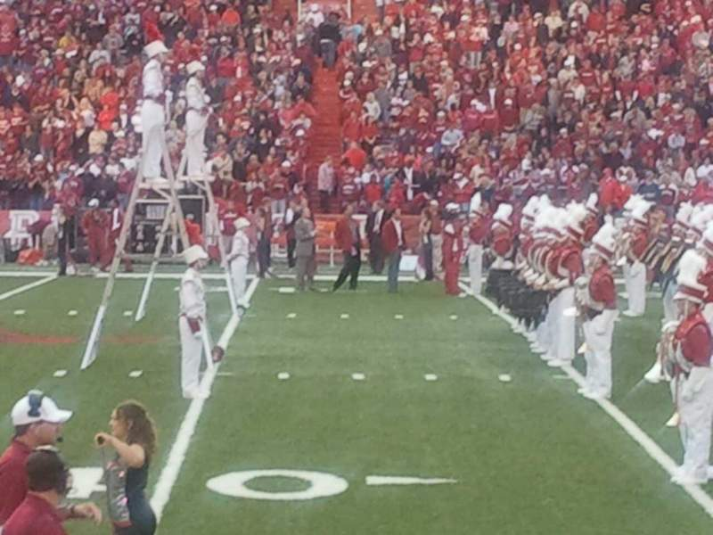 Seating view for Razorback Stadium Section 114 Row 2 Seat 42