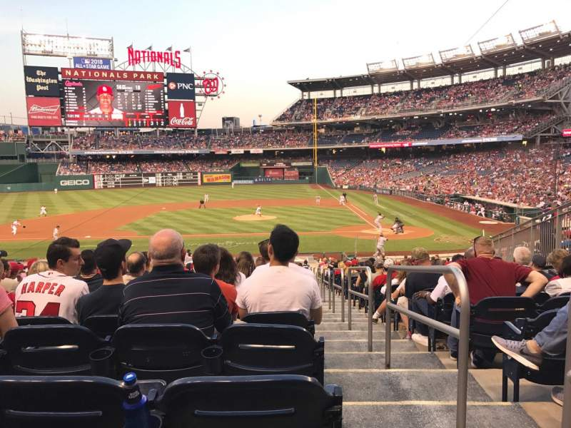 Seating view for Nationals Park Section 117 Row KK Seat 1