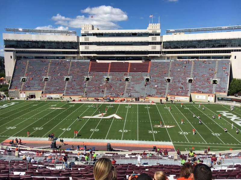 Seating view for Lane Stadium Section 9 Row UUU Seat 24