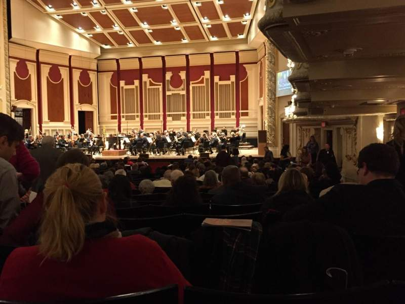Seating view for Heinz Hall Section Orchestra R Row Z Seat 24
