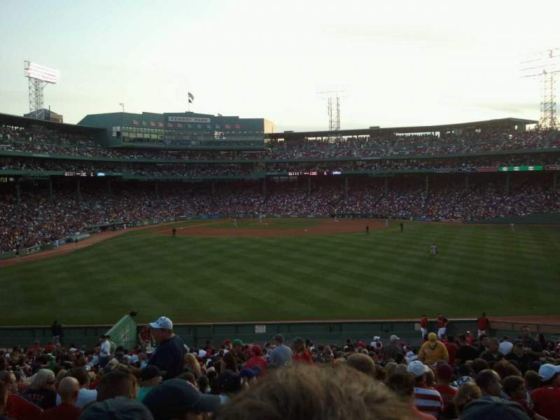 Seating view for Fenway Park Section Bleacher 41 Row 35 Seat 8