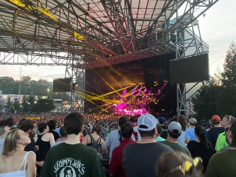 Seating view for Ameris Bank Amphitheatre Section 101 Row H Seat 18-19