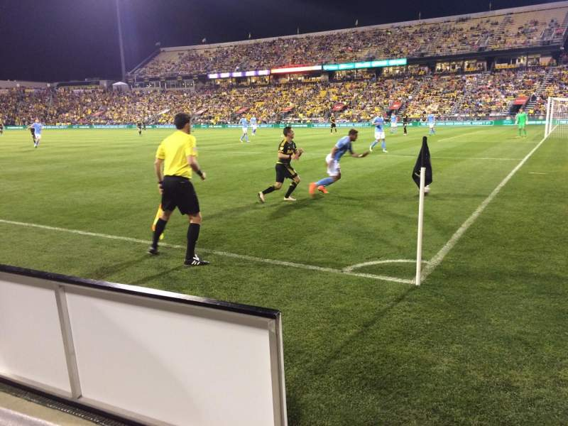 Seating view for Mapfre Stadium Section 121 Row 1 Seat 2