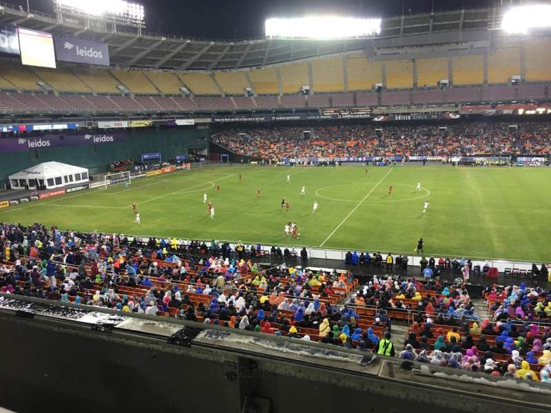 Seating view for RFK Stadium Section M35 Row 1 Seat 8